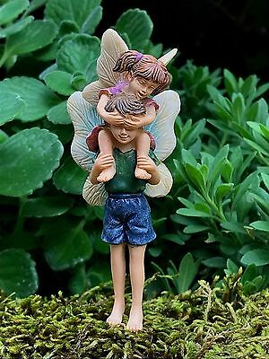 Miniature Dollhouse FAIRY GARDEN ~ Piggyback Ride Boy & Girl Pick ~ NEW