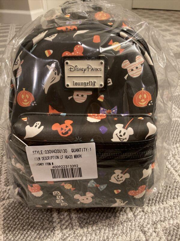 NEW Disney Parks Loungefly 2020 Halloween Treats Snacks Mini Backpack Mickey