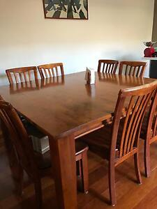 9 piece wooden dining suite Maidstone Maribyrnong Area Preview