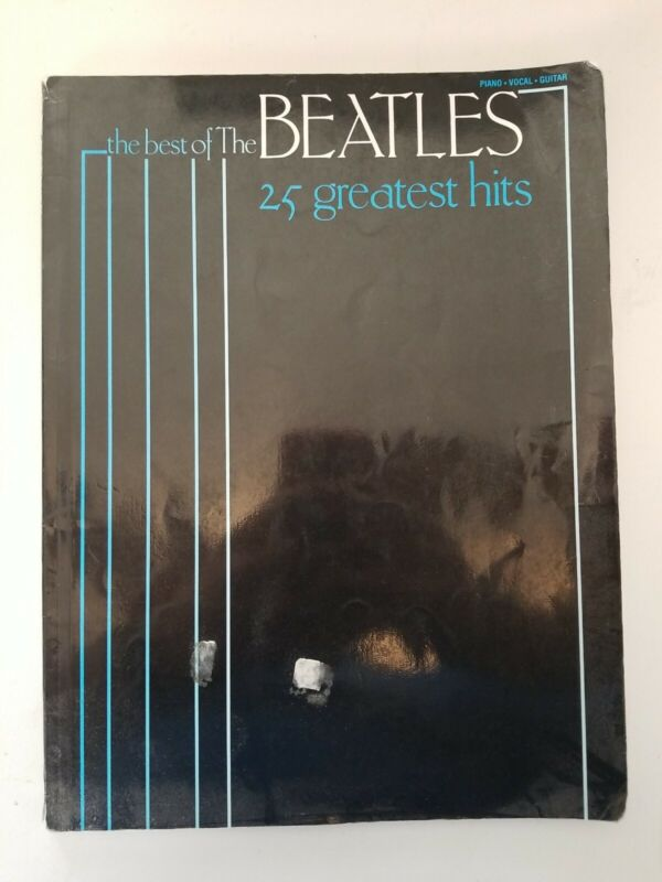 Piano Vocal Music Book, Beetles 25 Greatest Hits
