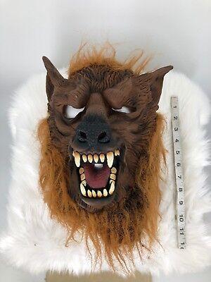 HALLOWEEN Rubber MASK Theater Wolf Wolverine Dog Big Bad Scary Costume Mens (B4) (Big Bad Wolf Dog Halloween Costume)