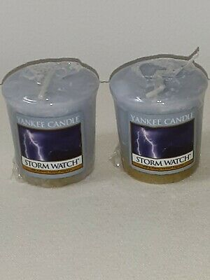 Yankee Candle Lot of 2 Votives Storm Watch
