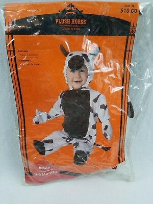 Infant Size 0-6 Months Western Spotted Paint Horse Pony Halloween Costume - Western Baby Halloween Costumes