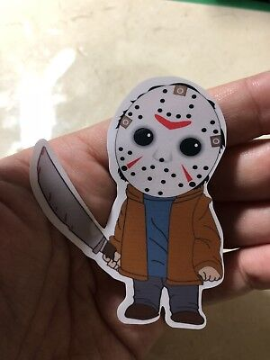 JASON VOORHEES FRIDAY THE 13th Chibi Laptop Sticker