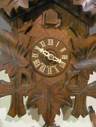 Sternreiter German 8-Day Cuckoo Clock Linden Wood Brass Movement