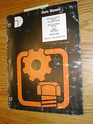 International Dresser Kt-1150 Cummins Eng Parts Catalog Manual Book Td-40 Dozer