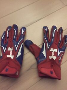 Football gloves. Under armour