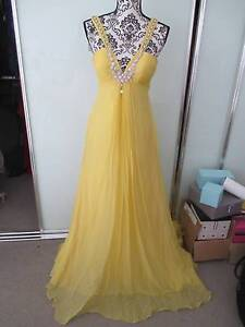 Yellow floor length dress/gown - brand new with tag Erskineville Inner Sydney Preview