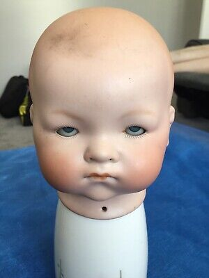 Vintage German Armand Marseille Bisque Porcelain Dolls Head With Moving Eyes 541