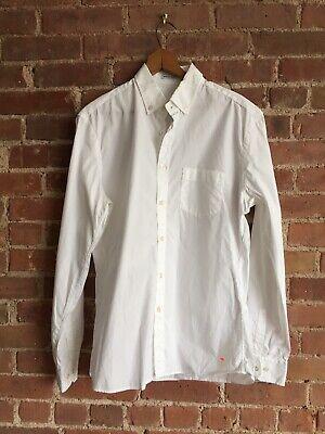 Tomas Maier Men's Poplin Shirt Size Large Slim, White Italy