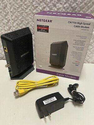 Netgear Black CM700 32x8 Channel Bonding High Speed Cable Modem DOCSIS 3.0
