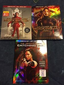 3 Hunger Games Combo Blu-Ray + DVD + Digital Movies
