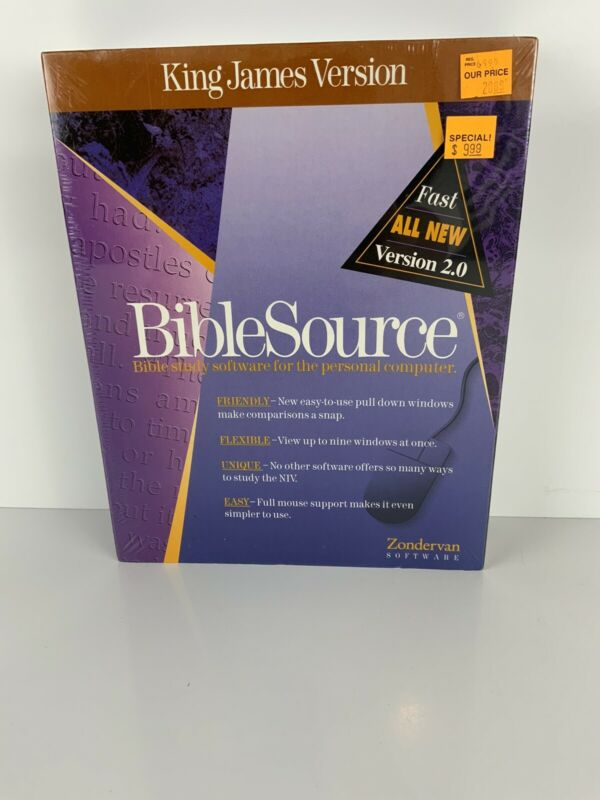 Sealed NOS Zondervan Bible Source 2.0 King James Version 3 1/2 Disc