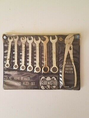 8' Auto Wrench - Vintage Globemaster 8 PC Home Auto Wrench,Ignition & Plier Set # 5927 Japan Used