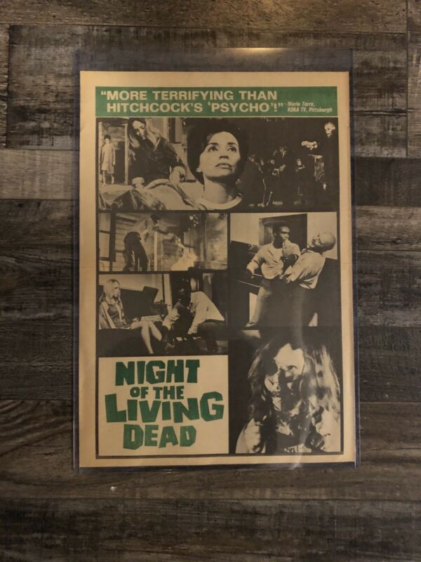 Night Of The Living Dead Original Theatrical Advertising Herald 1968