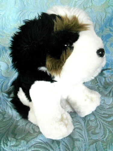 Bernese Mountain Dog Plush Stuffed Animal Realistic Puppy Soft 10""