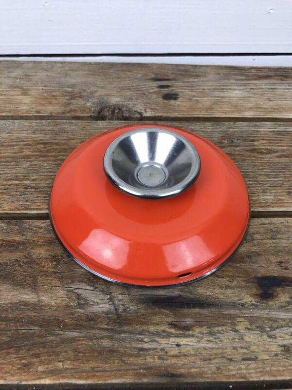 Cathrineholm Enamelware LID ONLY 6 inch Orange Enamel Pot Lid Norway