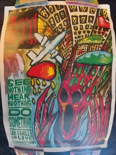 Levellers See Nothing Hear Nothing Do Something UK Promo Poster   35 X 25