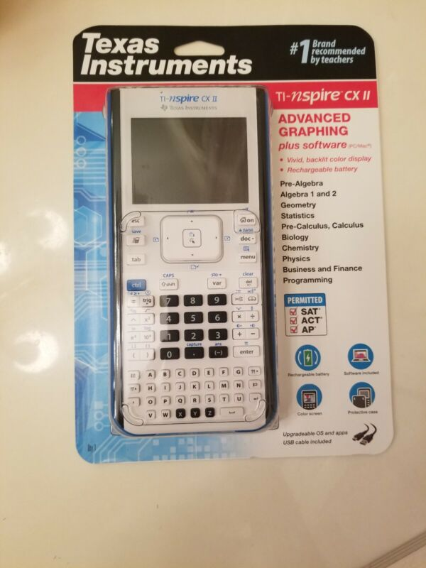 Texas Instruments TI-nspire CX II Blue Graphing Calculator with  NEW VERSION!!