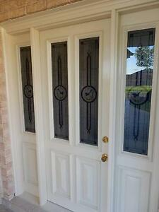 Front Solid Timber Entry Door with side Glass Gallery Beaumont Hills The Hills District Preview