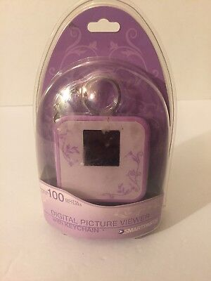 Smartparts Purple Digital Picture Viewer w/ Keychain  Holds 100 Digital Pictures