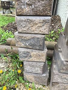 Barkman stack stone retaining wall blocks