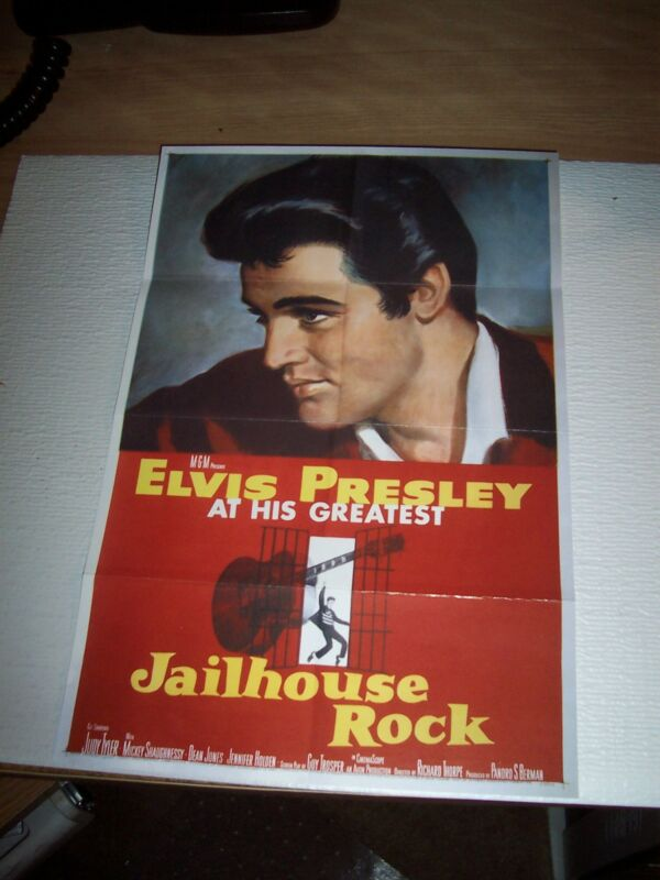 ELVIS PRESLEY JAILHOUSE ROCK POSTER FROM THE MOVIE MINT CONDITION