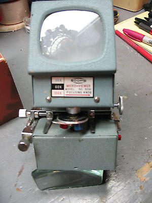 Scope Micro Viewer Model 5091 30x 60x 100x Complete W Instructions Bellows Box