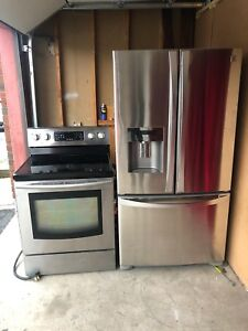Excellent Fridge with ice and water dispenser And Stove