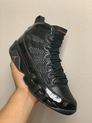 Air Jordan Retro 9 IX Bred Patent Black Size 9.5