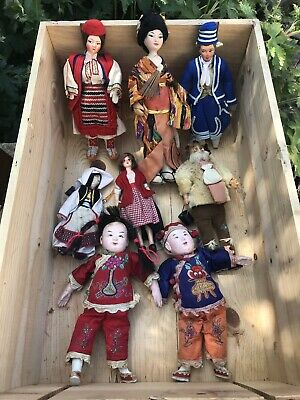Joblot Vintage Dolls. Chinese, Scandinavian, European.