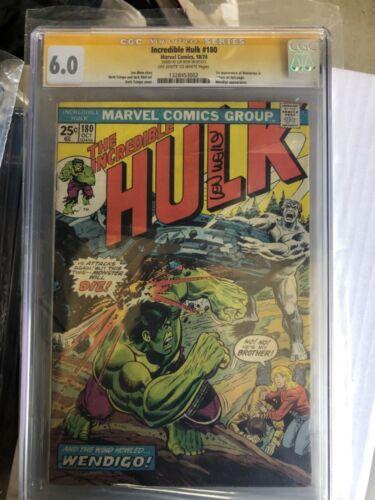 The Incredible Hulk 180 cgc 6.0 sign