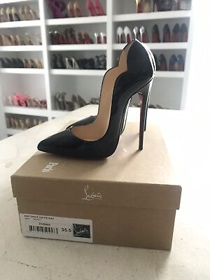 Christian Louboutin HOT CHICK 130 Black Patent 35.5 SOLD OUT EVERYWHERE
