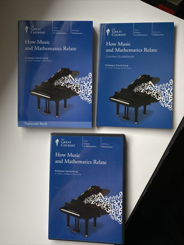 Great Courses How Music and Mathematics Relate-Course Guidebooks & DVD.