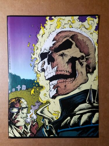 Ghost Rider smoking Marvel Comics Mini Poster by Matk Texeira