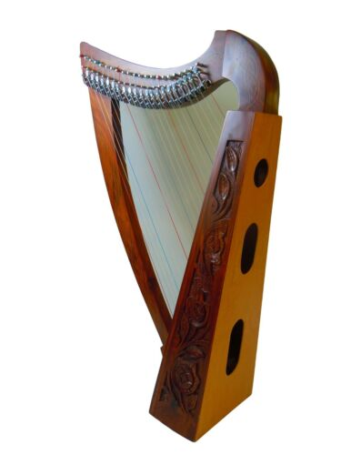 Handmade 22 Strings Lever Harp with free Strings, Tuning Key and Cayying Bag