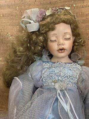 Donna Rubert Porcelain Doll, 33 Inches Eyes Closed, Dated 2005 Beautiful! L@@K