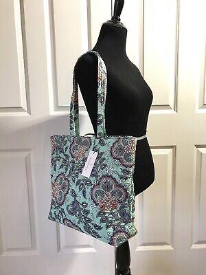 Flower Essential Tote Bag (Vera Bradley Essential Tote Bag Fan Flowers NWT 24396-M42)