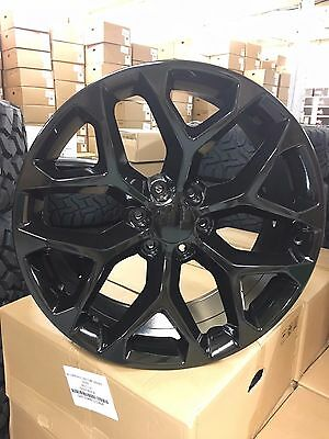"""4 NEW 2015 GMC Sierra Wheels 22x9 Gloss Black OE 22"""" Silverado Denali  Tahoe"""