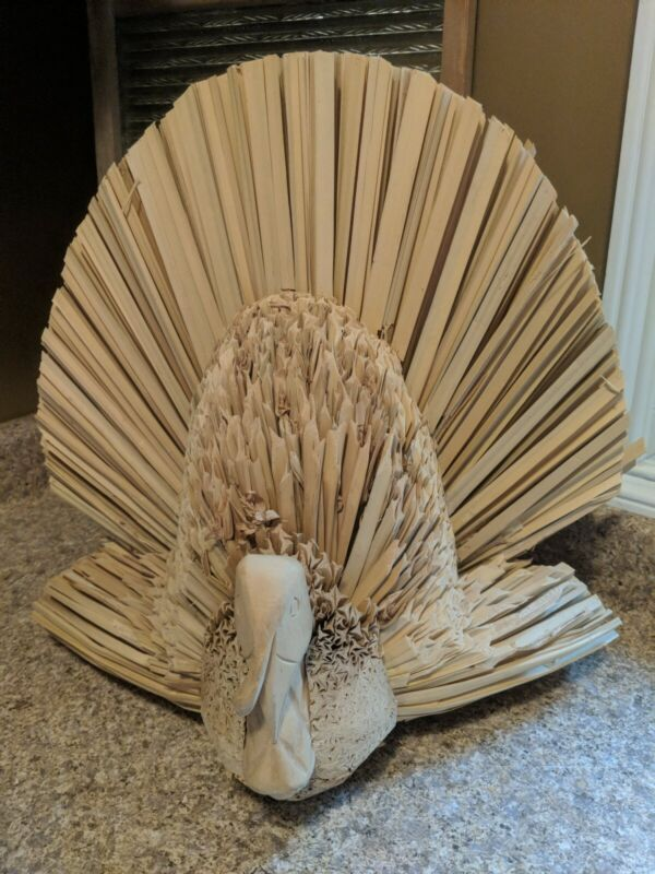 TOM a Straw TURKEY A handcrafted Thanksgiving Fall Home Decor