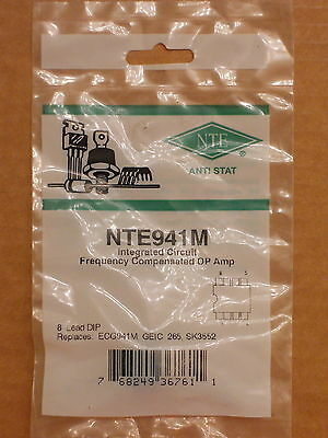 Nte941m Ecg941 Sk3514 Geic-263 Lm741n Ua741 Ic Frequency Compensated Op Amp New