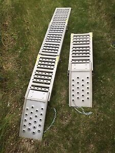 Loading ramps foldable