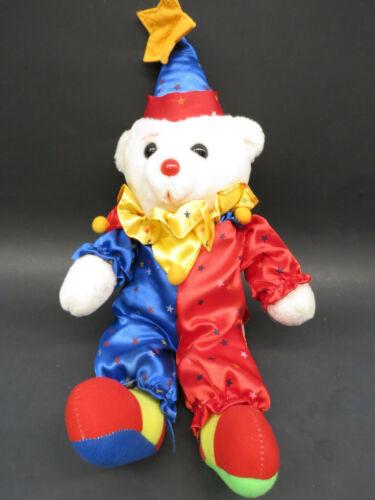 Vtg 1993 Play By Play Toys Clown Teddy Bear Doll Jester Plush Stuffed Animal