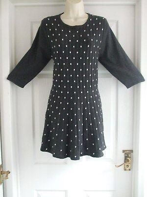 I Womens Size 14 Grey Polka Dot Dress LADIES WINTER WORK SMART EVENING SUMMER Winter Dot Kleid