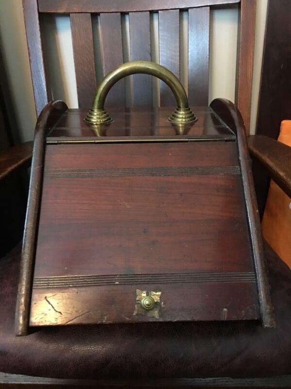 vintage wood coal box
