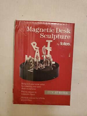 Totes Magnetic Letters Sculpture Steel Office Desk Toy Stress Relief Fidget