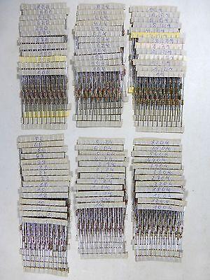 Widerstand Sortiment 1 Ohm - 10 MOhm, 76 verschiedene Widerstände je 10 Stück