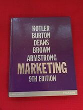 Marketing 9th edition Kotler, Burton, Deans, Brown, Armstrong Bellevue Hill Eastern Suburbs Preview