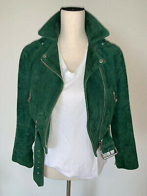 ⭐️ WOMENS ACNE STUDIOS MAPE PETITE SUEDE BIKER MOTORCYCLE  JACKET SMALL ⭐️