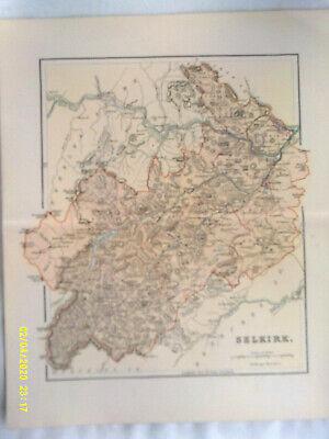 Antique Map. SELKIRK. 1895. VG.